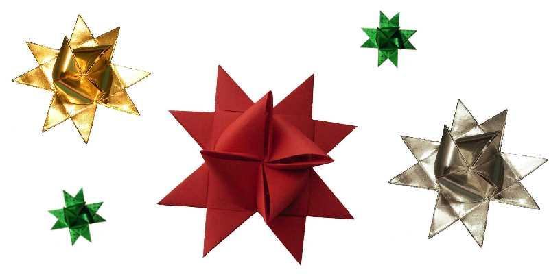 Fröbelsterne basteln, Weihnachten im Nordic-Store